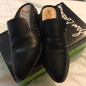 Sam Edelman Lewellyn Black Leather Studded Loafers